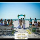 Wedding Florist. Clearwater Beach Wedding Ceremony.