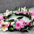 130x130 sq 1452914161668 pink head wreath