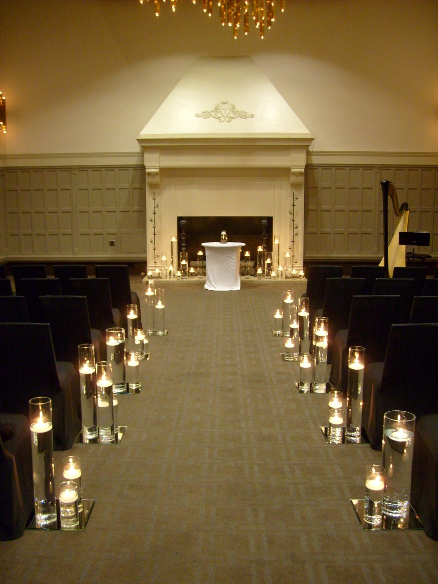 Aisle Markers Altar/Arch Arrangements City Indoor Ceremony
