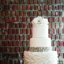 130x130 sq 1429706894714 copy of white wedding cake silver flowers leaves t