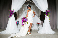 220x220 1387232536587 7 draped chuppah with hanging crystals purple  fuc