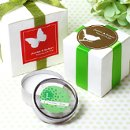 These classy personalized labels and wedding stickers can be personalized with names and dates.