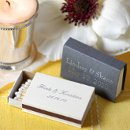 Great practical favors. Find many match box styles in numerous colors, font styles and sizes.