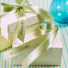 Personalized ribbons are great for decorating favors, invitations and bridal party gifts.