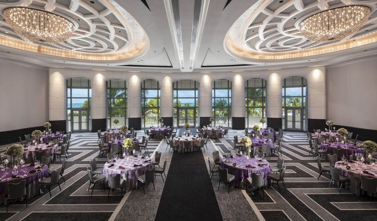 The Main Hall of the Loews Miami Beach Wedding Venue