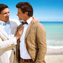 220x220 sq 1494532410115 lgbt male couple beach close   miamb 2016  32