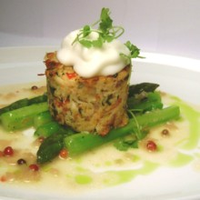 220x220 sq 1405626902457 pan seared crab cake with meyer lemon pink pepperc