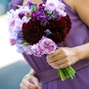 Bouquet in saturated shades of purples & lavenders