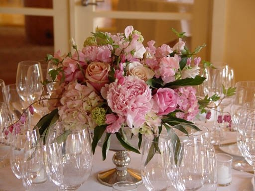 Pics for gt light pink hydrangea centerpieces