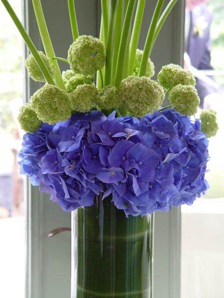 Blue green centerpiece spring wedding cakes photos