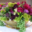 130x130 sq 1366738384063 low green and burgundy centerpiece