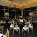 130x130 sq 1465497094817 black satin linen gold chiavari guest table