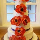130x130 sq 1351531367563 orangeflowertowercake1jpg