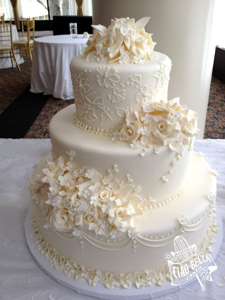 Wedding Cakes No Fondant Allowed Squirrelly Minds - Wedding Cakes ...