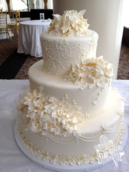 images of wedding cakes without fondant