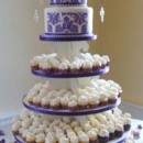 130x130 sq 1383032600849 princess cake wedding two teir on cupcake stand 04