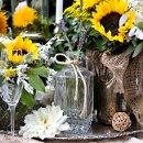 130x130 sq 1335506706294 sunflowertablescape3
