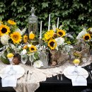 130x130 sq 1335507092419 sunflowertablescape6