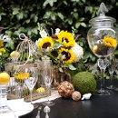 130x130 sq 1335507197823 sunflowertablescape7