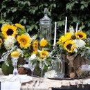 130x130 sq 1335508358514 sunflowertablescape15