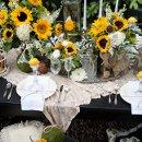 130x130 sq 1335509125882 sunflowertablescape20
