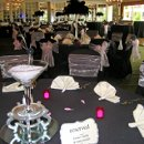 Brookhaven Country Club - Hollywood style decor - martini centerpieces & feather centerpieces