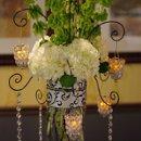 130x130 sq 1299191457812 weddingflowershydrangeawithcrystalhangingvotives