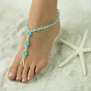 Exquisite Jade Barefoot Sandals, Foot Jewelry, Wedding Sandals, Made in all Colors, FREE SHIPPING.
