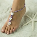 Satin Flower Barefoot Sandals, Foot Jewelry, Wedding Sandals, Made in all Colors, FREE SHIPPING.