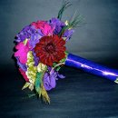 130x130 sq 1296604102768 purplegreenturquoisebouquet