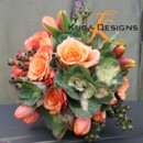 130x130 sq 1456858293468 orange and green wedding bouquet kuga designs