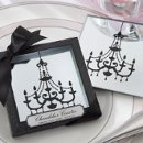 These elegant mirror coasters boast a spectacular chandelier giving a very classic look. Makes a great party favor or wedding shower decoration. Sold in sets of two, they come with Advantage Bridal's fast shipping and low price guarantee.