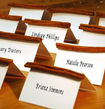 Cinnamon stick place cards are a great holiday or fall touch for your reception tables. Each cinnamon place card is blank and ready for your calligrapher to personalize. Check out this and hundreds more favor ideas at Advantage Bridal!