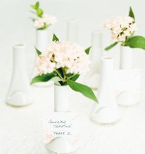 The perfect and elegant party favor and place card holder! This mini vase place card holder is great as a decoration and as a wedding favor. Give your guests a special piece of you to take home with our low price guarantee and fast shipping.