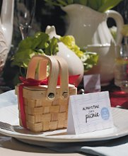 These cute mini picnic baskets are perfect for a garden theme wedding or for a special event outdoors! Sold in sets of 6 these picnic basket favors are ready to be filled with your favorite goodies! And with Advantage Bridal's fast shipping and low price guarantee, you'll be ready to enjoy your event without the stress of finding favor boxes!