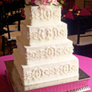130x130 sq 1399755737294 white wedding cake with royal icing design by the