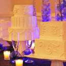 130x130 sq 1399765046650 the three divas events white on white wedding cake