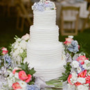 130x130 sq 1465416444894 pbweddingscakewhitebandsflowersc