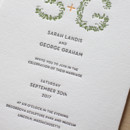130x130 sq 1460830939202 botanical leaves letterpress wedding invitation