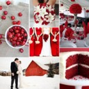 130x130 sq 1386792725209 red and white wedding inspiration board