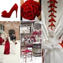 130x130 sq 1386792730960 red and white wedding inspiration board