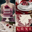 130x130 sq 1386792802234 burgundy and white wedding inspiration board
