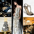 130x130 sq 1386793104479 black white and gold wedding inspiration board