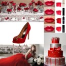 130x130 sq 1387900837338 red and silver wedding inspiration board