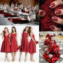 130x130 sq 1387900839571 red and silver wedding inspiration board
