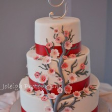 220x220 sq 1452619857358 red cherry blossom cake