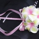 Flower Girl Wand - features a soft touch yellow/pink plumeria, plumeria available in your Colors! Many other coordinating pieces.