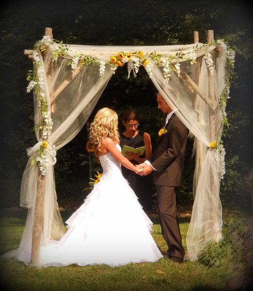 Outdoor Wedding Arch: Altar/Arch Arrangements Decor Outdoor Ceremony Sunflower