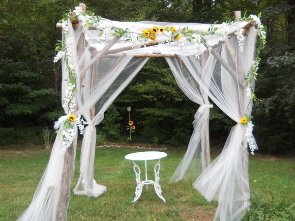 Romantic Rustic Shabby Chic AltarArch Arrangements