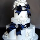 130x130 sq 1297974667718 bluebowsblingweddingcakerental